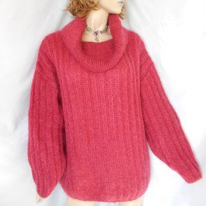 AMITA OF FLORENCE Mohair Collared Sweater M/L/XL